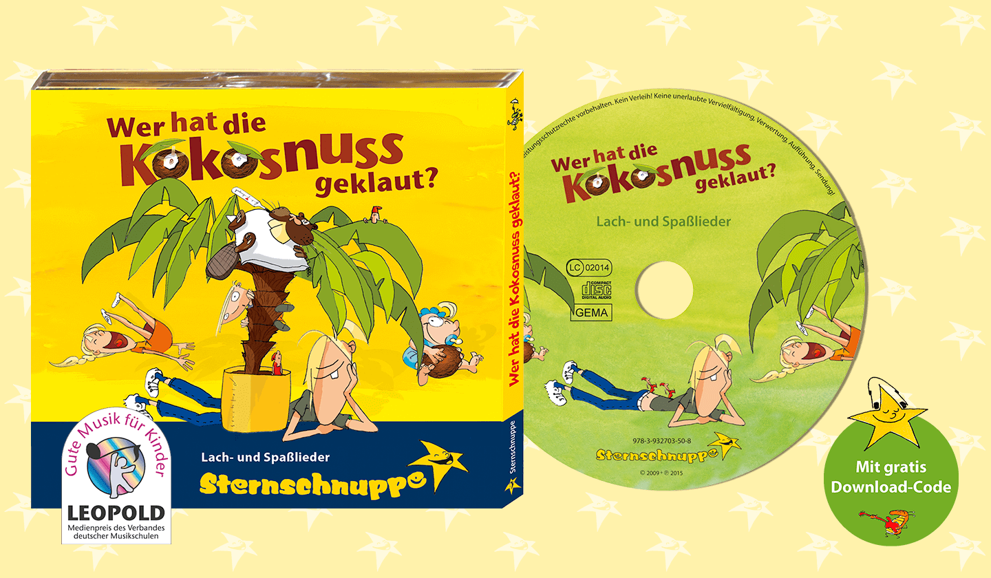 CD mit traditionellen Kinderlieder-Hits Wer hat die Kokosnuss geklaut