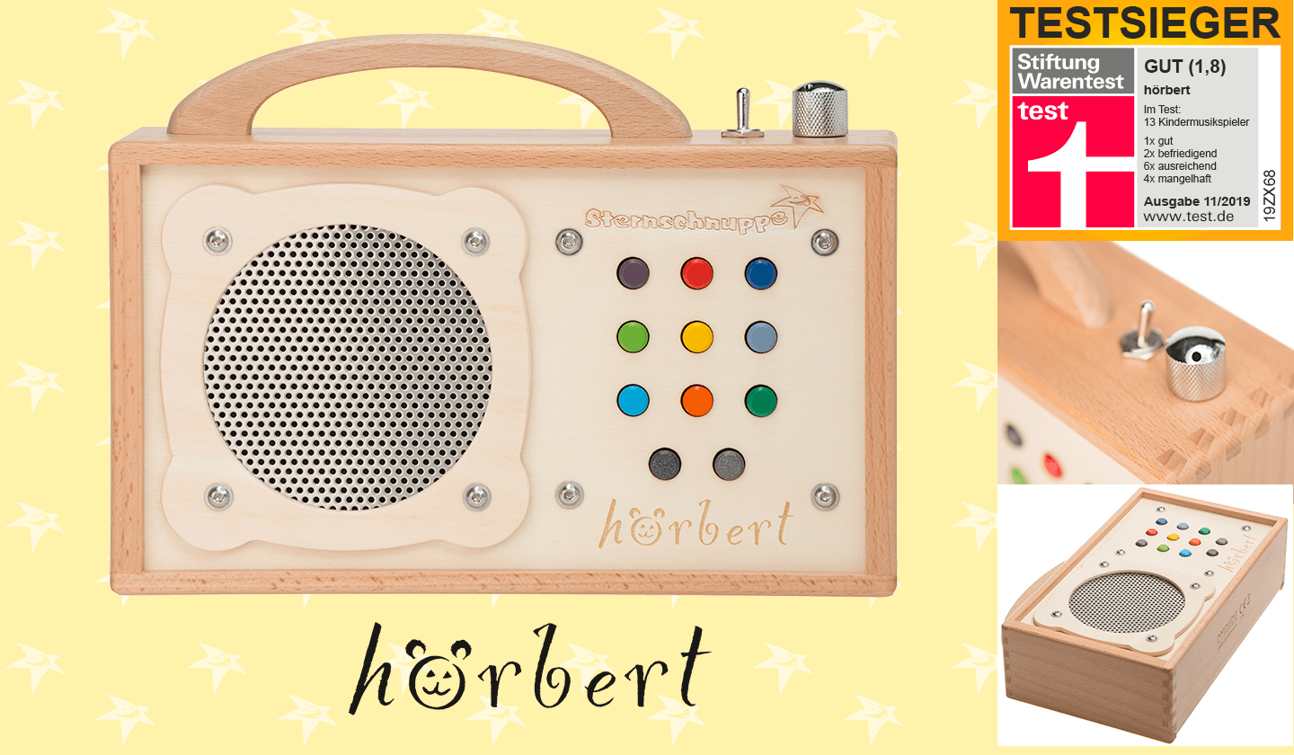 hörbert mp3 Player aus Holz