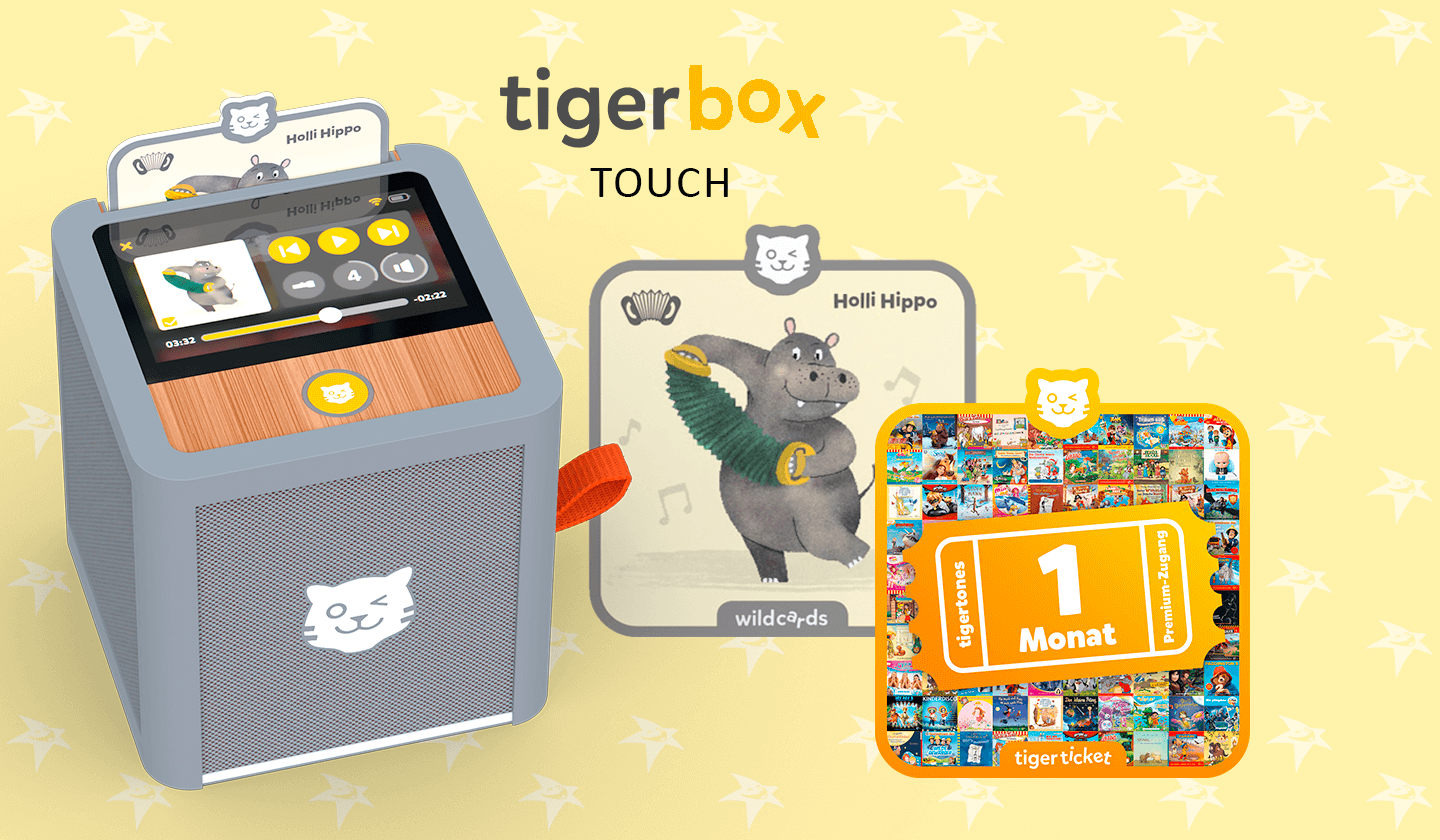 Die coole Streaming-Hörbox für Kinder: tigerbox TOUCH