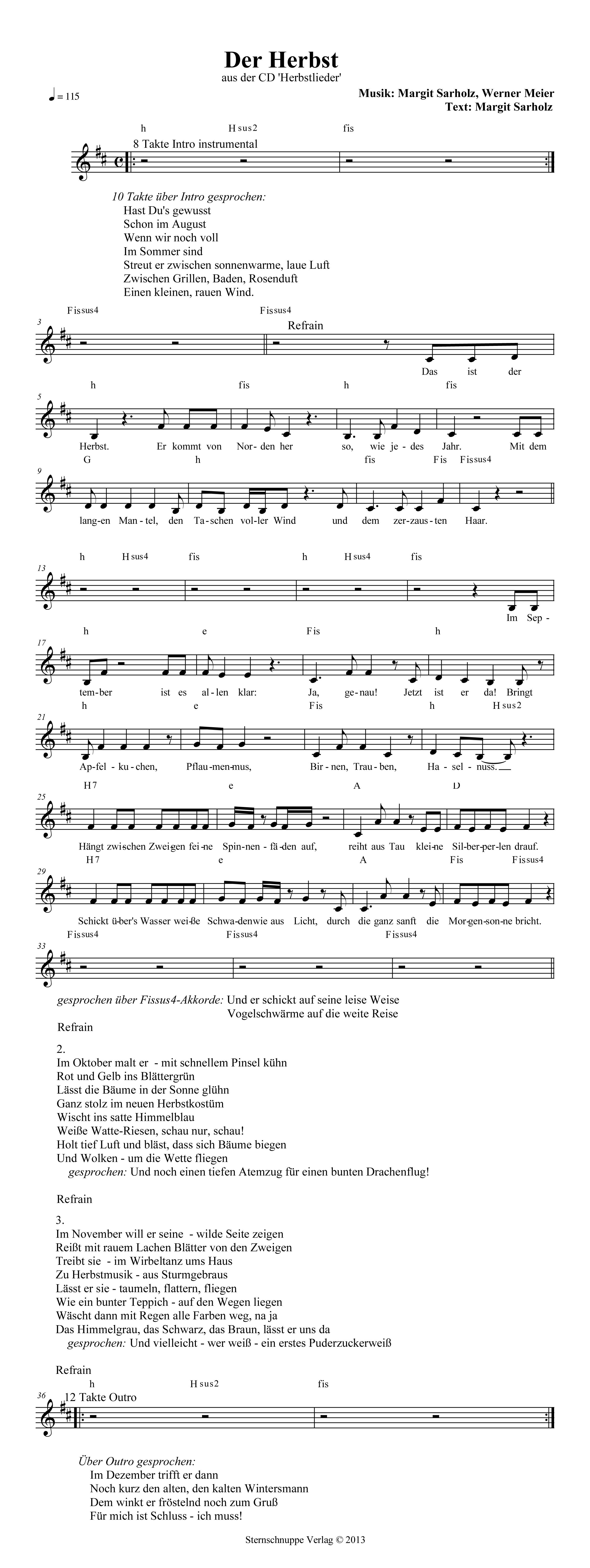 Text und akkorde im wind STIMMEN IM