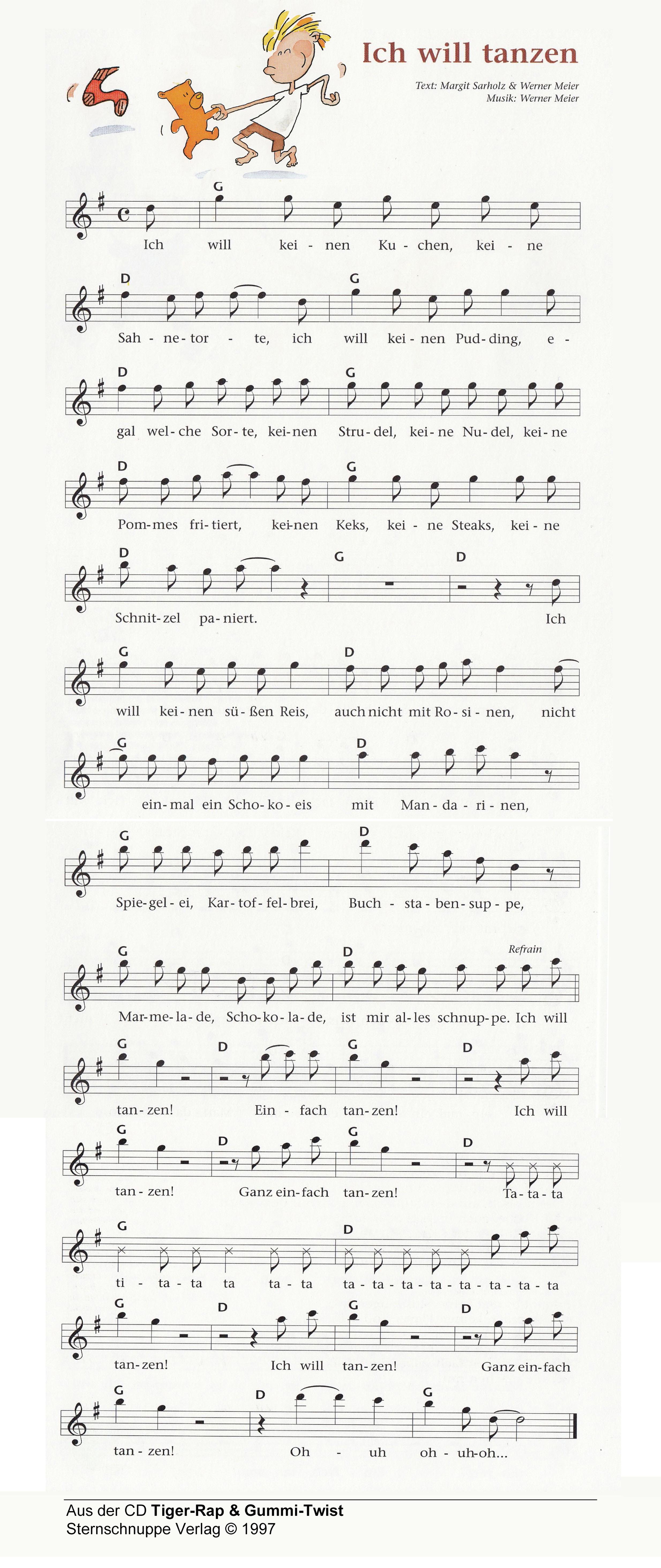 ich  tanzen kinderlieder texte und noten